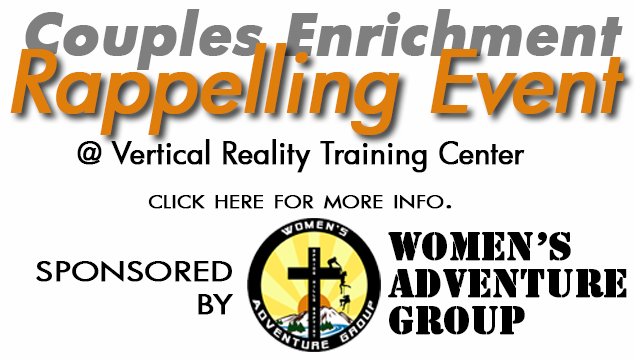 WAG Couples Enrichment Rappelling Event 2014