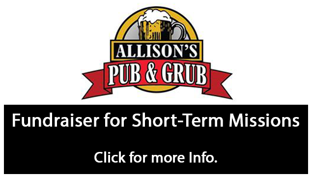 Missions Fund Raiser at Allison's Pub & Grub