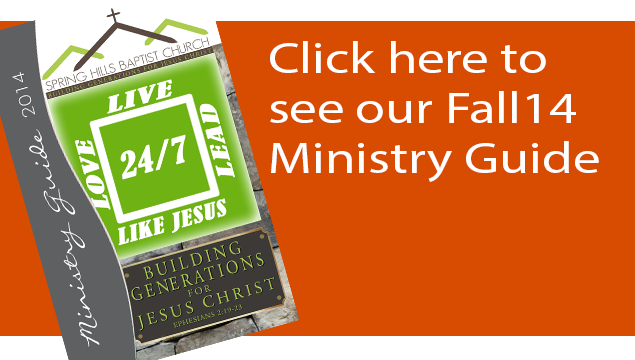 Fall 2014 Ministry Guide