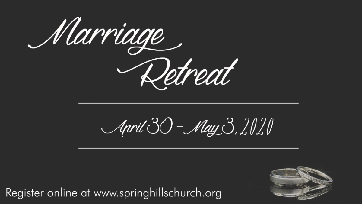 "REGISTRATION FOR - Marriage Retreat ""A Get Away in the Smokies"""