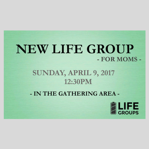 New Small Group for Moms