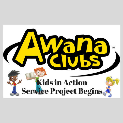 AWANA Kids in Action - Service Project begins