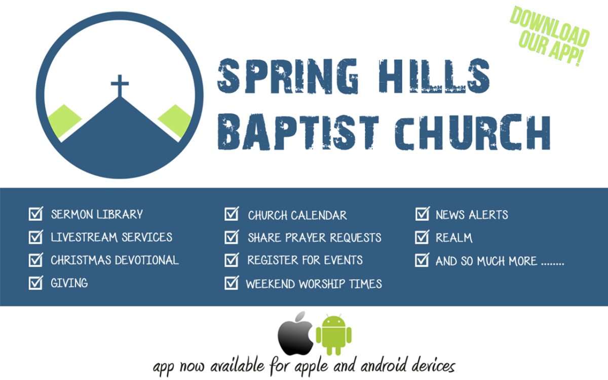 SHBC App Available in Google play or App Store