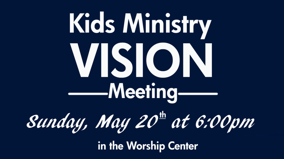 Children's Ministry Vision Meeting