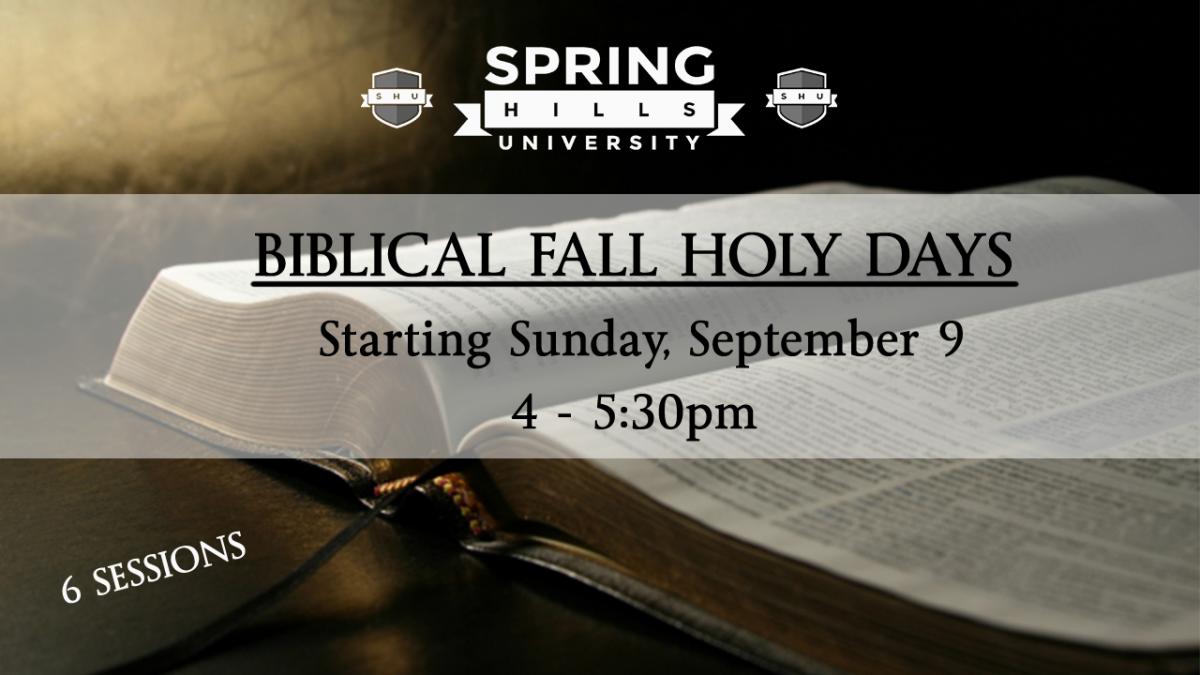 Biblical Fall Holy Days