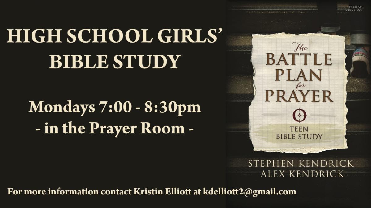 High School Girls Bible Study