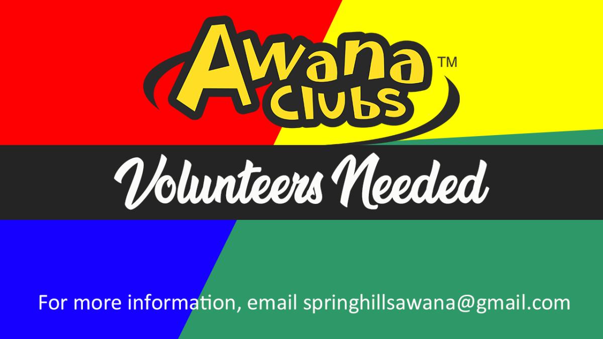 AWANA Volunteers Needed