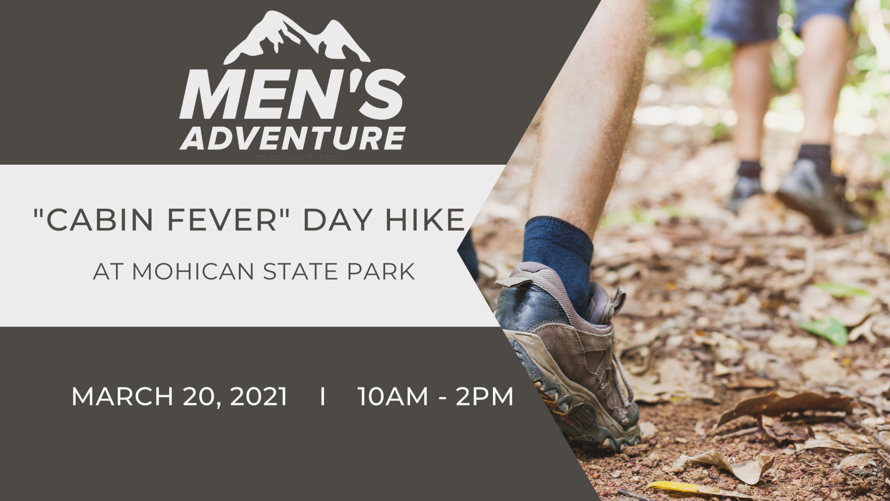 """Men's Adventure Group -""""Cabin Fever"""" Day Hike"""